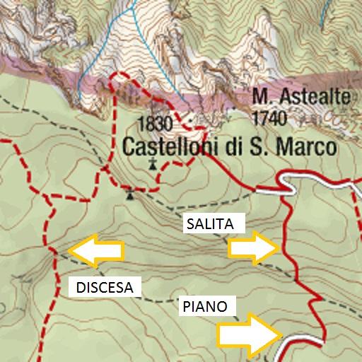Leggere una Carta Topografica: tipologia sentiero