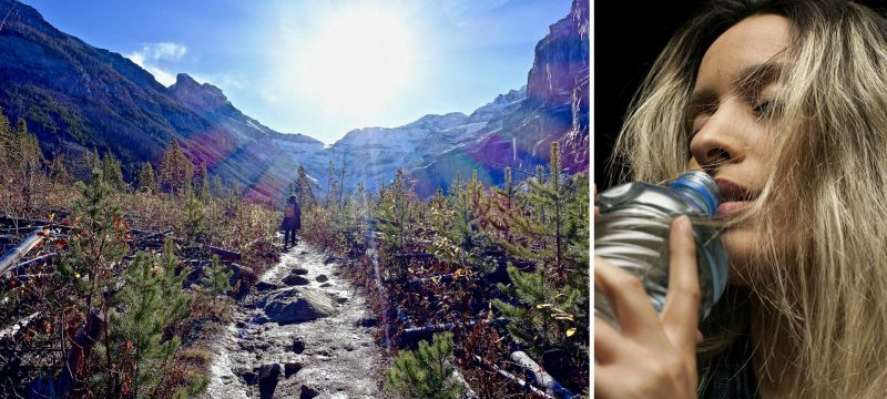Cosa bere quando si cammina in montagna