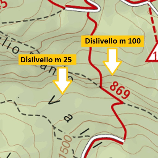 Leggere una Carta Topografica: curve di livello o isoipse
