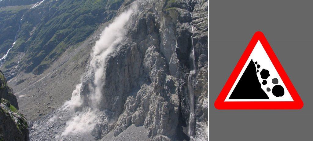 Pericolo Caduta Massi in Montagna