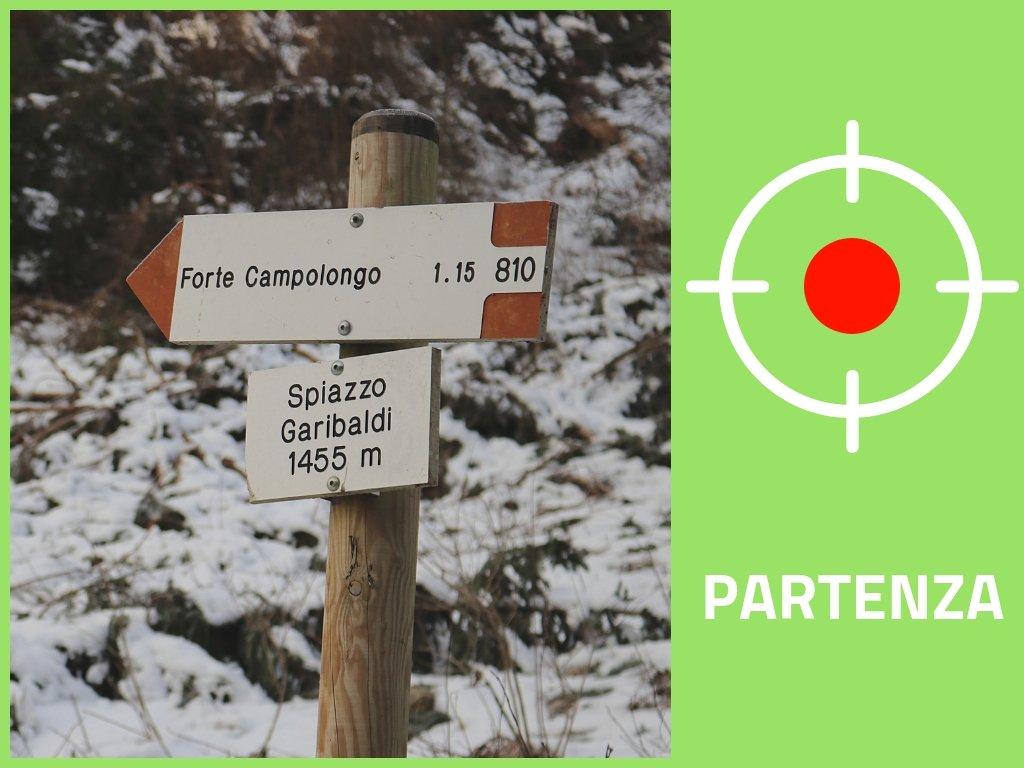 Forte Campolongo: inizio sentiero