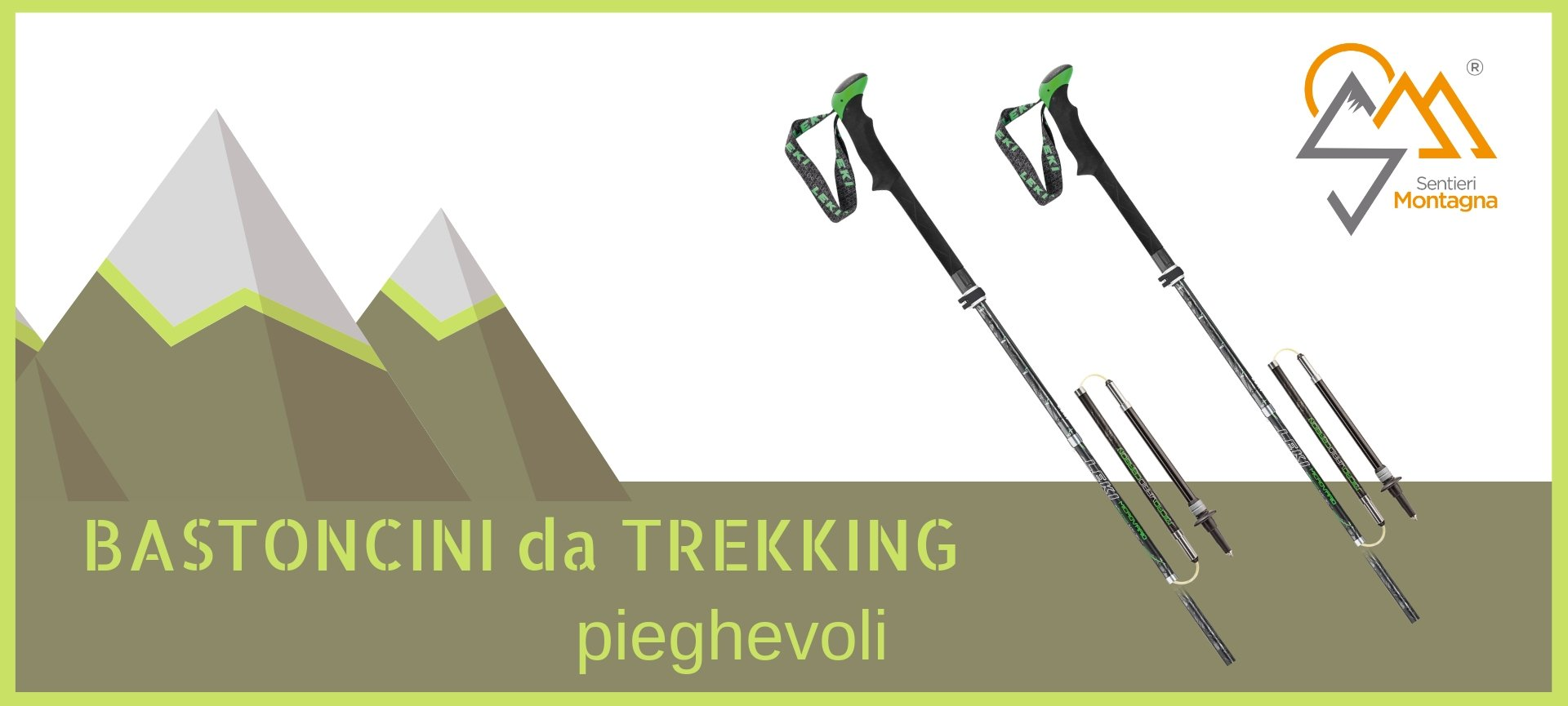 Bastoncini Trekking pieghevoli