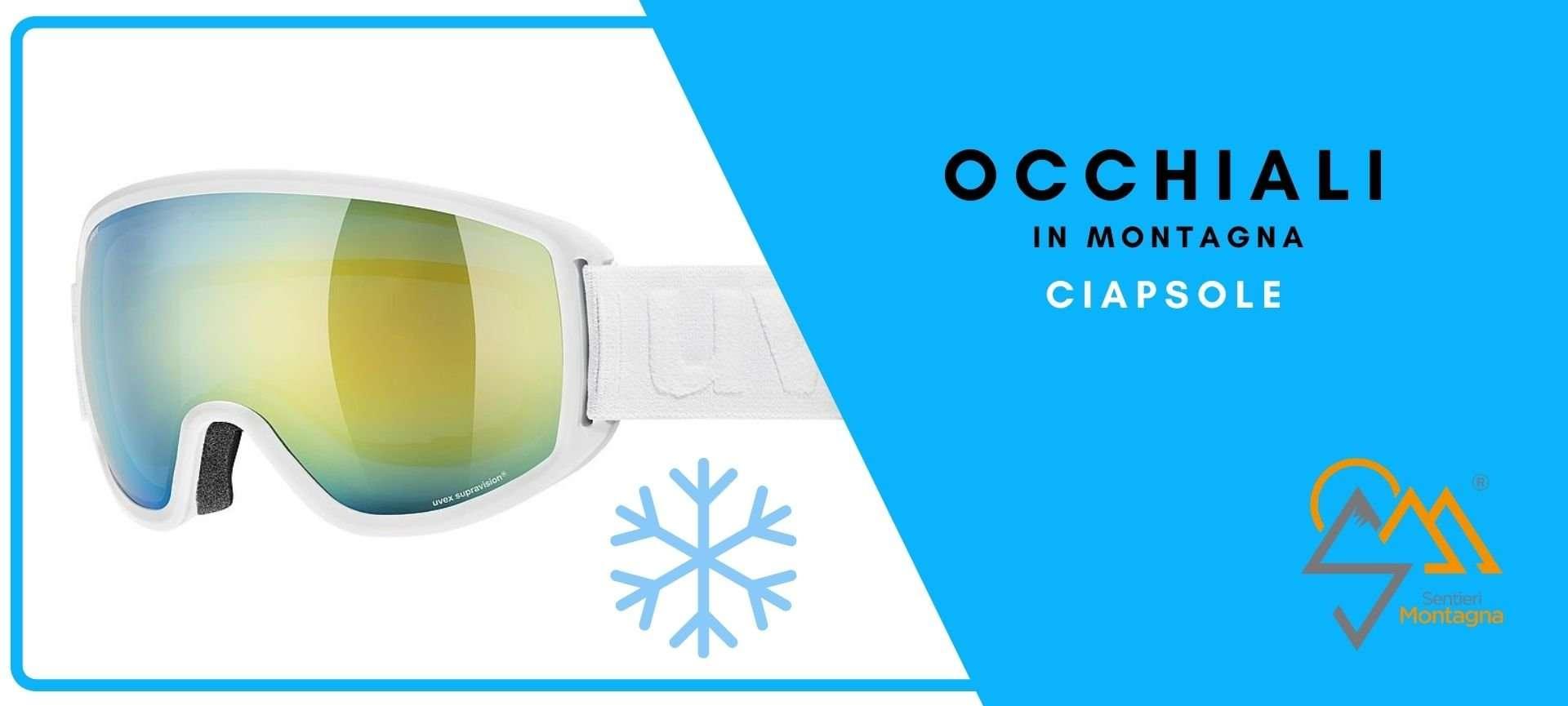 occhiali da montagna ciaspole