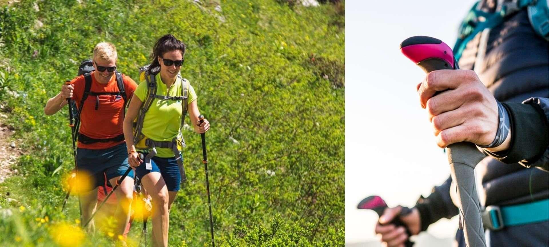 bastoncini da trekking per camminare in montagna